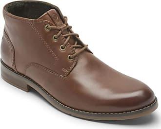 Rockport Mens Colden Chukka Boot, Dark Tan, 8.5 UK