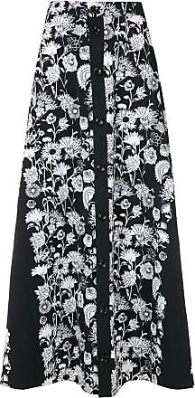 Amir Slama Margarida printed maxi skirt - Black