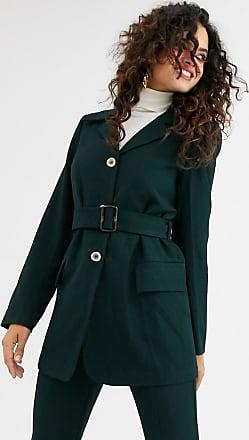 Unique21 Unique21 - Blazer in lana con cintura-Verde