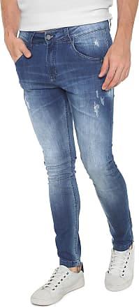 Rock   Soda Calça Jeans Rock Soda Slim Estonada Azul a761130018bbc