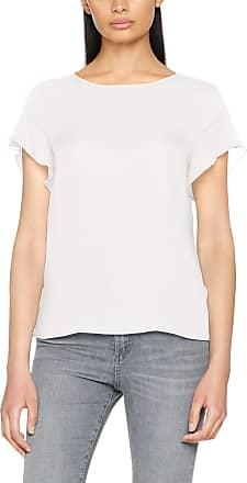Vila Womens Vilucy S/s Flounce Top-Noos T-Shirt, White (Snow White), 40 (Size: Large)