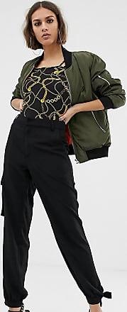NA-KD Na-kd - Schwarze Cargohose mit seitlicher Tasche