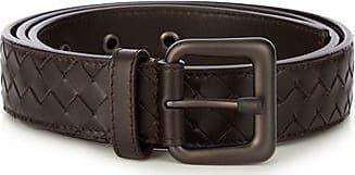 Bottega Veneta Intrecciato Leather 3.5cm Belt - Mens - Brown
