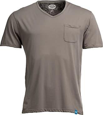 Panareha T-shirt scollo a V MOJITO grigio