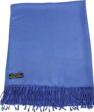 CJ Apparel Blue Solid Colour Design Shawl Scarf Wrap Stole Throw Pashmina Pashminas CJ Apparel NEW