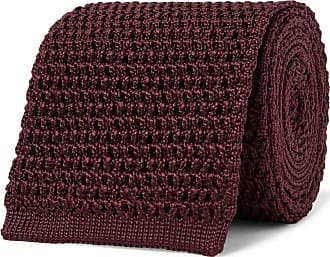 Tom Ford 7.5cm Knitted Silk Tie - Burgundy
