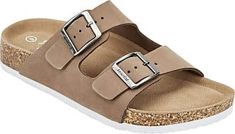Weird Fish Kelli Leather Two Strap Sandal Taupe Size 6