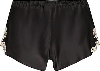 La Perla Maison lace-trimmed silk-blend shorts - Black