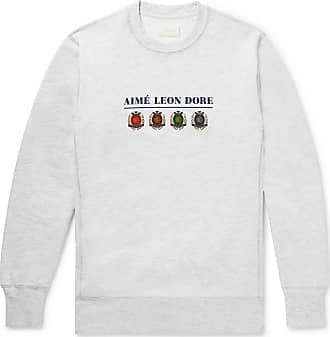 Aimé Leon Dore Logo-print Mélange Loopback Cotton-jersey Sweatshirt - Gray