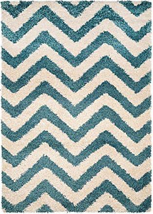 Benuta Shaggy Hochflor Teppich Graphic Zick Zack Türkis 160x230 Cm    Langflor Teppich Für Schlafzimmer Und