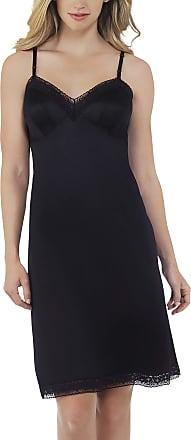 Vanity Fair Womens Rosette Lace Full Slip 10103, Midnight Black, 34, 22 Inch