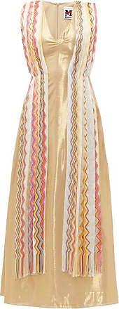 M Missoni Vintage-scarf Silk-blend Lamé Maxi Dress - Womens - Yellow Multi