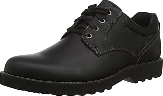 Rockport Mens Westbrook Oxford, Black (Black Lea 002), 10 (44.5 EU)