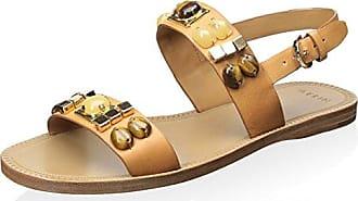 Aerin Womens Essie Sandal, Camel, 6 M US