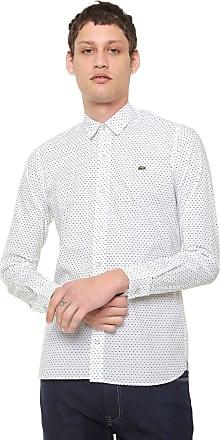 d0ad4c705db Lacoste Camisa Lacoste Slim Estampada Branca