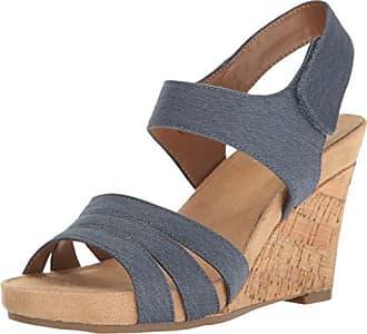 Aerosoles A2 Womens Plush Day Wedge Sandal, Chambray Fabric, 10.5 M US