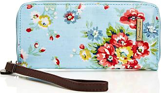 Swankyswans Womens Classic Print Zip Around Wallet LWZ-CLASSIC FLORAL Sky Blue