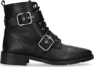 Sacha Bottines motardes en cuir avec lacets et boucles - noir (36 37  39442f39ff0b