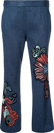 Natori kick flare cropped jeans - Blue