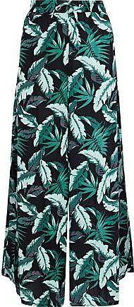 Onia Onia Woman Chloe Printed Poplin Wide-leg Pants Teal Size XS