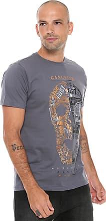 Gangster Camiseta Gangster Lettering Cinza