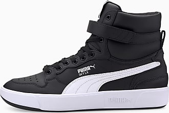 Puma Womens PUMA Sky Lx Mid Athletic Trainers, Black/White, size 3.5, Shoes