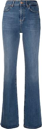 7 For All Mankind Calça jeans flare com cintura alta - Azul