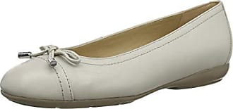 Geox Womens ANNITAH 9 Nappa Leather Ballet Flat with Arch Support and Cushioning, taupe, 38 Medium EU (8 US)