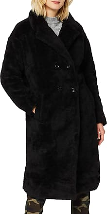 Urban Classics Womens Ladies Oversized Teddy Coat, Black (Black 00007), X-Large