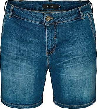 1d88bac150718e Zizzi Damen Große Größen Jeans Shorts Slim Fit Kurze Hose Sommerhose Gr  42-56
