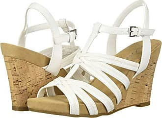 Aerosoles Womens Right Plush Sandal, White, 6.5 M US