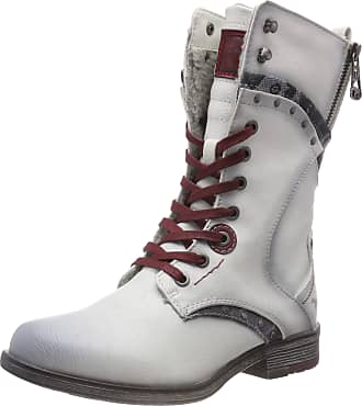 Mustang Stiefelette, Womens Ankle Boots Ankle boots, Off-White (Ice 203), 3.5 UK (36 EU)