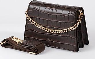 Jeenaa Jee Croc Brown Bag