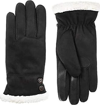 Isotoner Womens Microfiber Touchscreen Gloves w/Water Repellent Technology, Black, S/M