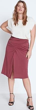 Violeta by Mango Slit wrap skirt