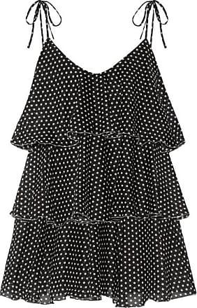 Lisa Marie Fernandez Imaan Tiered Polka-dot Cotton-voile Mini Dress - Black