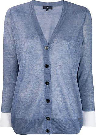 Fay longline sheer cardigan - Blue