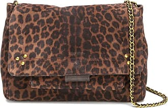 Jerome Dreyfuss Bolsa tiracolo Lulu M com estampa de leopardo - Marrom