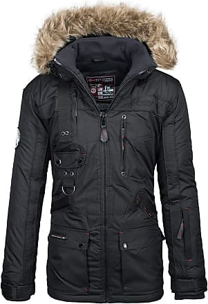Geographical Norway Jacket Men Winterjacket Black, Size:L