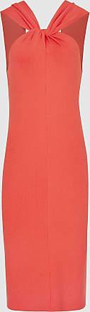 Reiss Sawyer - Twist-neck Bodycon Dress in Red, Womens, Size XS