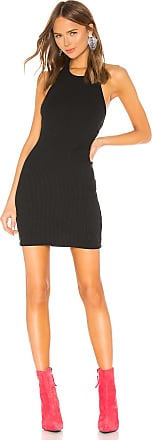 Alexander Wang Logo Patch Halter Dress in Black