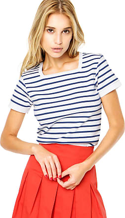 Finery Blusa Finery London Aubin Square Neck Ribbed Branca