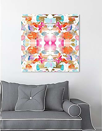 The Oliver Gal Artist Co. The Oliver Gal Artist Co. Abstract Wall Art Canvas Prints Gold and Colorful Confetti Home Décor 20 x 20 Pink, Orange