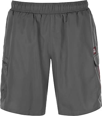 Lonsdale Mens Cargo Shorts Woven Pants Trousers Bottoms Lightweight Mesh Charcoal XXL