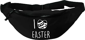 Flox Creative Recycled Polyester Black Bumbag I Love Easter