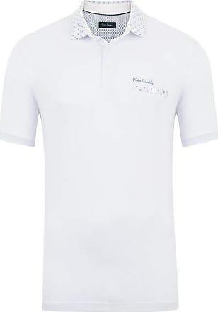 Pierre Cardin Polo Supreme Branca Gola Estampada M