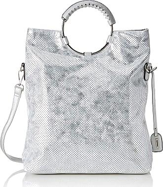 Remonte Q0392, Womens Cross-Body Bag, Silver (White-Silver), 40x33x12 cm (B x H T)