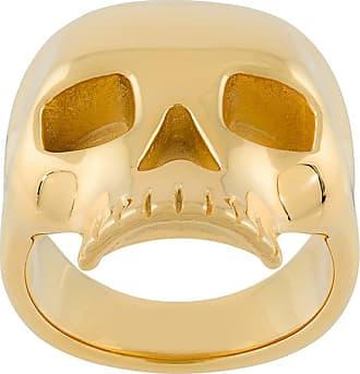 Northskull Anel Skull banhado a ouro 18kt - Metálico