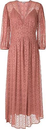 Alcaçuz Vestido longo Mia em laise - Rosa