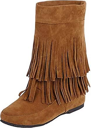 e39e093d2 buffalo damen western stiefel mit fransen